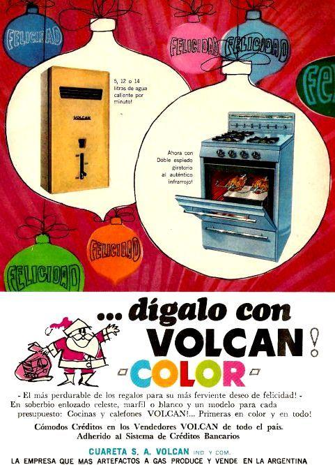 Cocinas VOLCAN, década del 60.