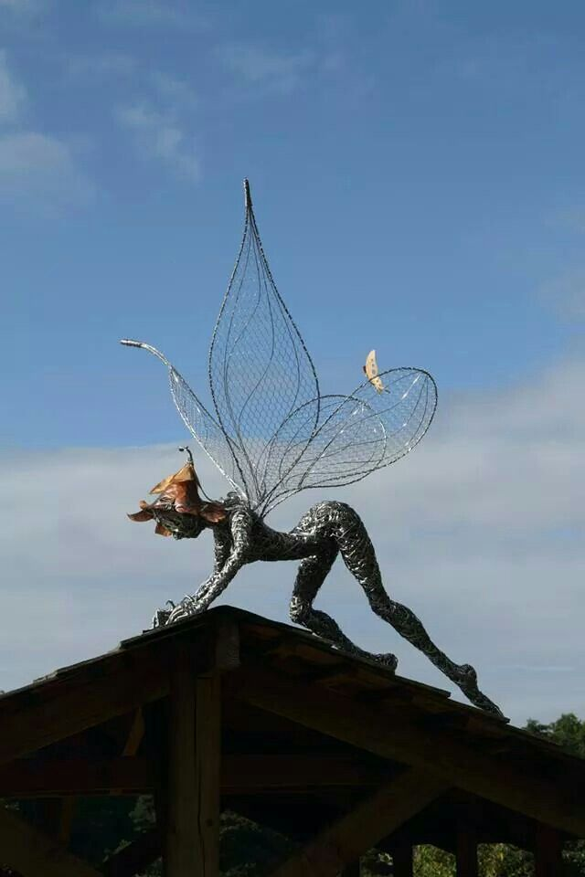 50 best Fantasy Wire Sculptures - Fairies for the Garden images on ...