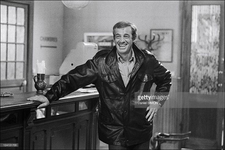 Set of 'Flic ou voyou' by Georges Lautner In France On December 11, 1978 - Jean-Paul Belmondo.
