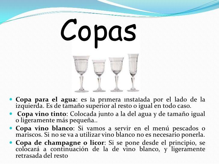 No dudes a la hora de elegir la copa, de agua, de vino tinto, de vino blanco y de espumosos