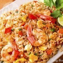 Foto de la receta: Arroz frito con camarones estilo Thai