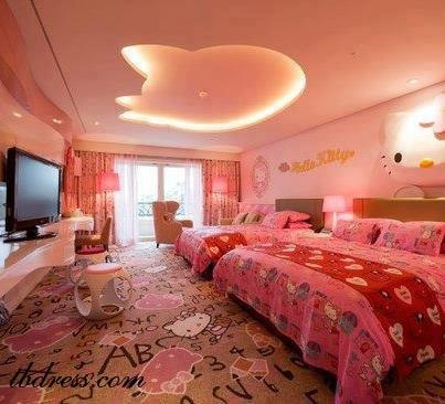 Bedrooms For Girls Hello Kitty