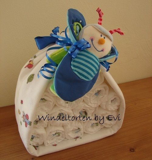 122 best images about diy gesch nke on pinterest diaper for Baby diaper cake decoration
