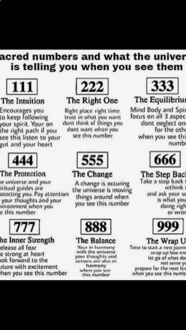 ESOTERIC MEANING OF NUMBERS