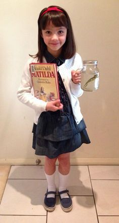 Matilda costume. One of the easiest outfits to put together for book day