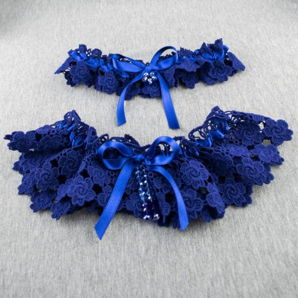 burgundy blue organza satin ribbons Simple but elegant organza garter for your wedding  great gift for you