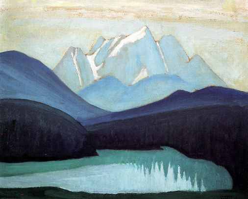 Lawren Harris Emerald Lake c.1924 12x15 inches, oil