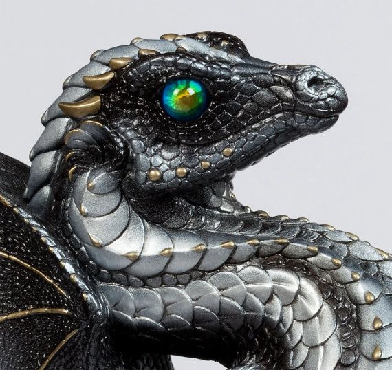 Rising Spectral Dragon Handmade Statue -- Silver-- Windstone Editions -- Gorgeously Detailed Mythical Figurine -- 515-S $262.00