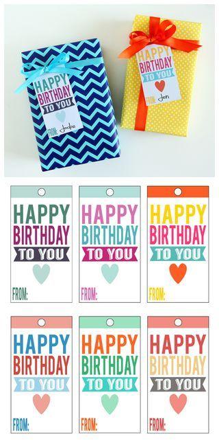 Printable Happy Birthday Tags | eighteen25 | Bloglovin'
