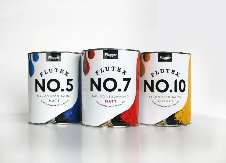 Visual identity & packaging for the danish paint company Flügger (fictive school assignment).