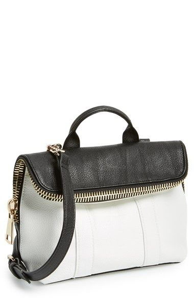 POVERTY FLATS by rian 'Super' Zip Top Foldover Crossbody Bag | Nordstrom $78