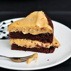 PB Fans ALERT : Chocolate Stout Cake with Peanut Butter Frosting, not ...