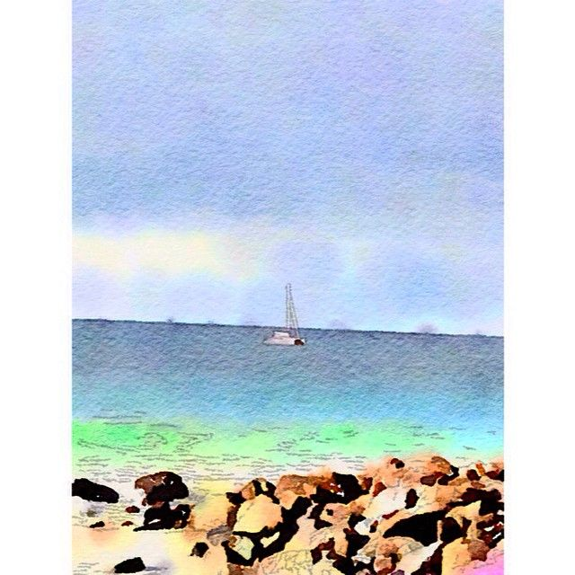 """Painted in #Waterlogue #Waterlogueapp #watercolour #byronbay #seascape #art"" Photo taken by @glendapix on Instagram, pinned via the InstaPin iOS App! http://www.instapinapp.com (04/15/2015)"