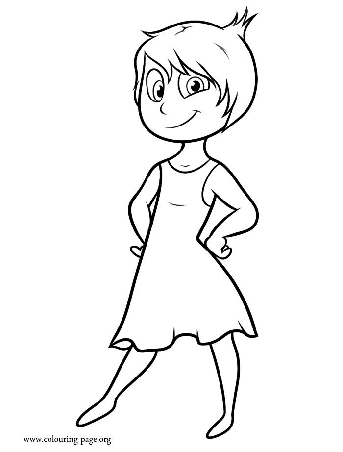 Meet Joy! She is a character in the upcoming Disney movie Inside Out. How about to print and color this amazing coloring page?