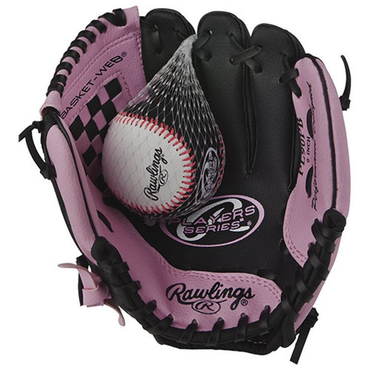 Rawlings Players Series 9-inch Youth Baseball Glove, Right-Hand Throw (PL90PB). Rawlings Players Series Softball Glove, 9 - Right Handed Throw - Pink/Black.