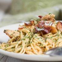 Rijkelijke pasta met eendenborst en mooi gegratineerd met een belegen kaas...