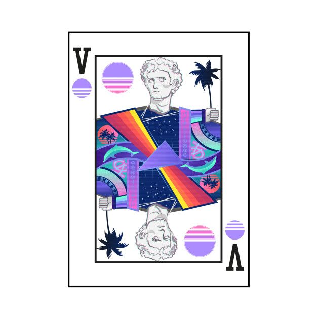 Vaporwave Playing Card