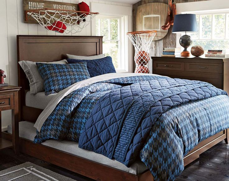Teenage Guys Bedroom Ideas | Sports | PBteen