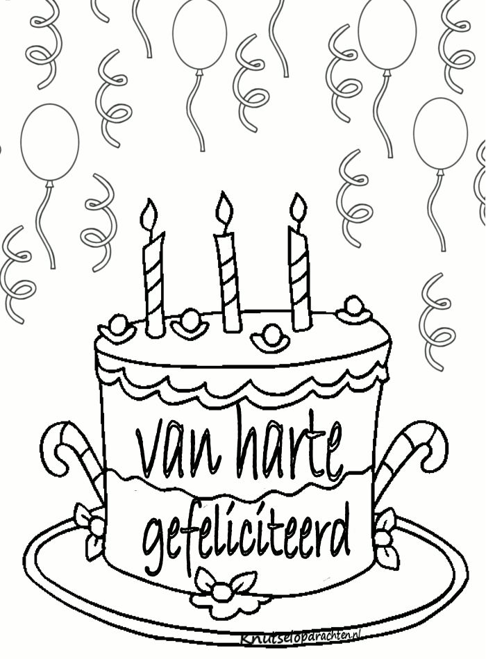 kleurplaat jarig verjaardag kleurplaten verjaardag