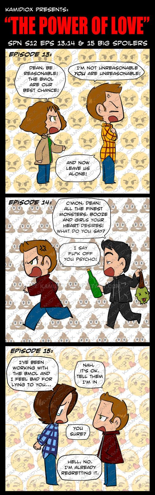awww The Winchesters #brothers #Dean #Sam title: The Power Of Love (S12 eps 13 to15 BIG SPOILERS) by KamiDiox.deviantart.com on @DeviantArt #Supernatural fanart #brothers #Dean #Sam  #Mary Wonchester #BMOL || Mr. Ketch || Gavin MacLeod || Men of Letters