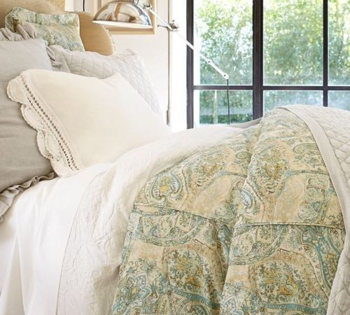 What Is Pottery Barn Style Called: POTTERY-BARN-FRESCO-PAISLEY-FULL-QUEEN-DUVET-COVER-2-STD