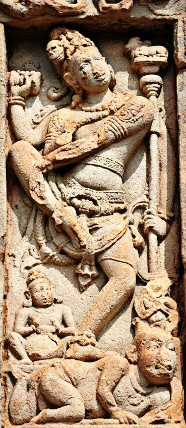 """ Natraj "" ( Lord Shiva as Dancer ). Virupaksha Temple. Pattadakal. Chalukya Dynasty. 8th Century CE. Karnataka, India."