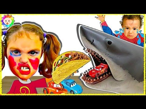 CRYING BABY Learn Colors Pet Shark Eats Taco Bell & Chases Girls Victori...