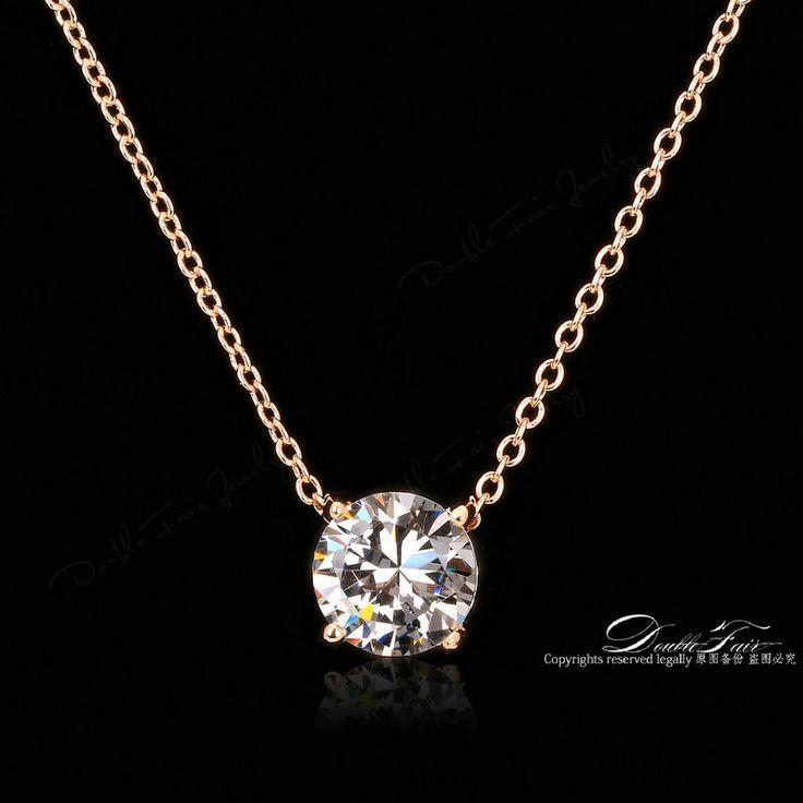 ПР Стиль 4 Коготь CZ Бриллиантовые Ожерелья и Кулоны Настоящее Позолоченные Мода Марка Украшения Для Женщин Цепи Accessiories DFN415