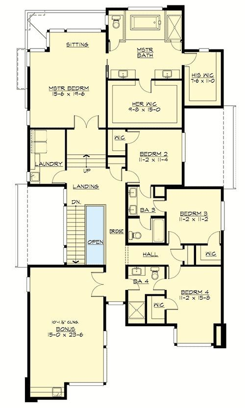 Plan 23703jd Narrow Lot Modern House Plan Floor Plans Modern