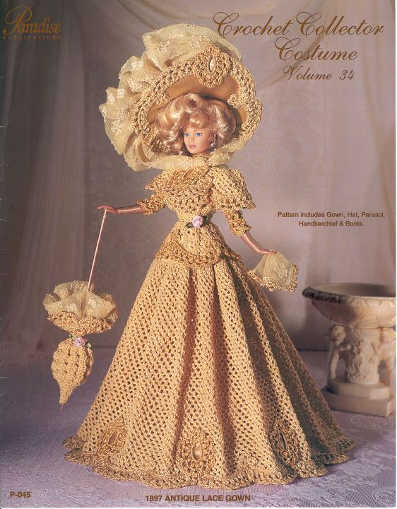 Free Copy of Crochet Pattern - 1897 Antique Lace Gown