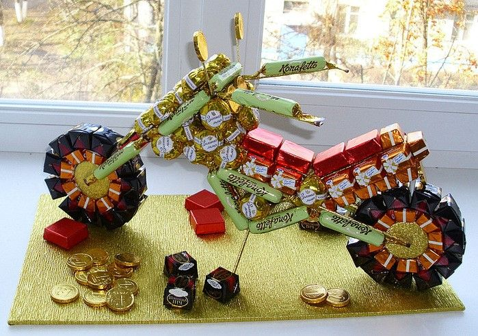 motorcycle of sweets
