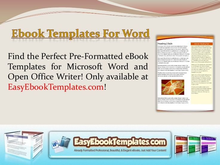 7 best Ebook Templates For Word images on Pinterest Microsoft - free microsoft word postcard template