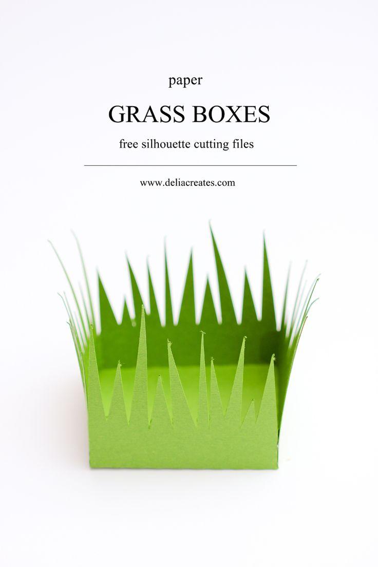 best images about silhouette cameo vorlagen grass paper boxes cut files deliacreates com