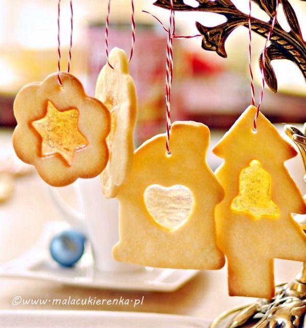 Ciasteczka Z Witrazem. (Shortbread Cookies with Stained Glass) use Google Translate!