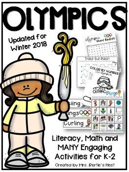 **Updated for the 2018 Winter Games** This HUGE pack of low-prep activities has everything you need for celebrating the Winter Olympic Games with your Primary Classroom. Your little ones will enjoy the Olympics while practicing their basic skills: reading, math, number