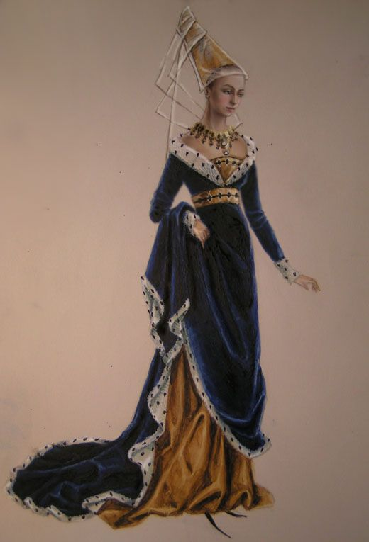A lady of Middle ages by edarlein.deviantart.com on @DeviantArt