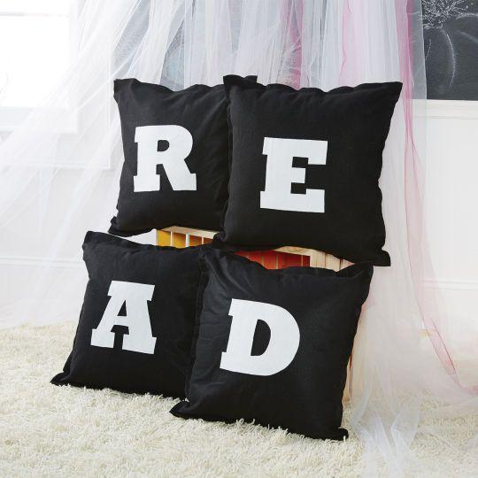 "Felt ""READ"" Pillows"