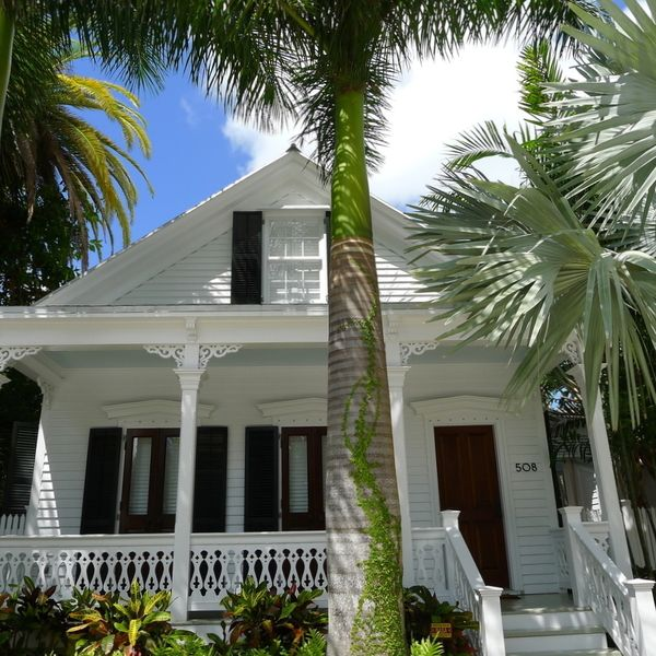 A 19th-century Conch cottage in Key West's Solares Hill neighborhood. Key West, Florida ~j~4