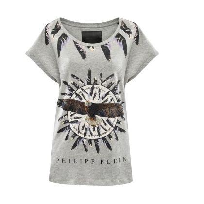 #philippplein #fallwinter2014 #fall2013 #stilllife #tshirt #eagle #feathers #casualwear #skull #womenswear #abudhabi #printedtshirt #abudhabistyle #fashionista #gown #greenbird #sleeveless