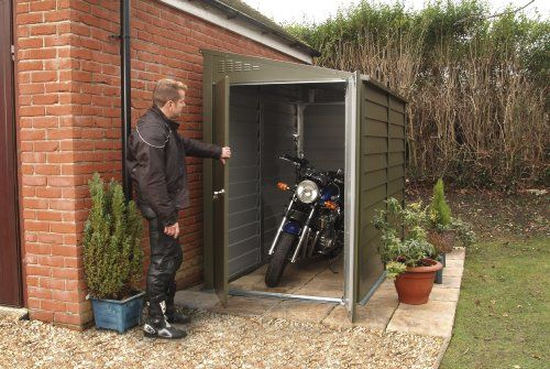 Shed / Garage / Workshop / Motorcycle Storage - Titan 940 (approx. 9' x 4') Trimetals http://www.amazon.co.uk/dp/B0030FWCW6/ref=cm_sw_r_pi_dp_iCltub1N9G4ME