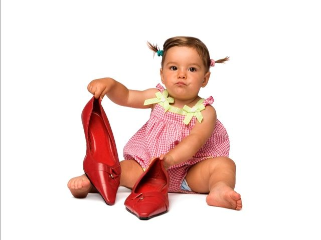 Baby and shoe ...