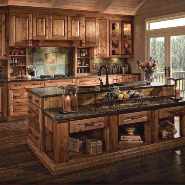 Western kitchen dream home pinterest beautiful will for Western kitchen cabinets
