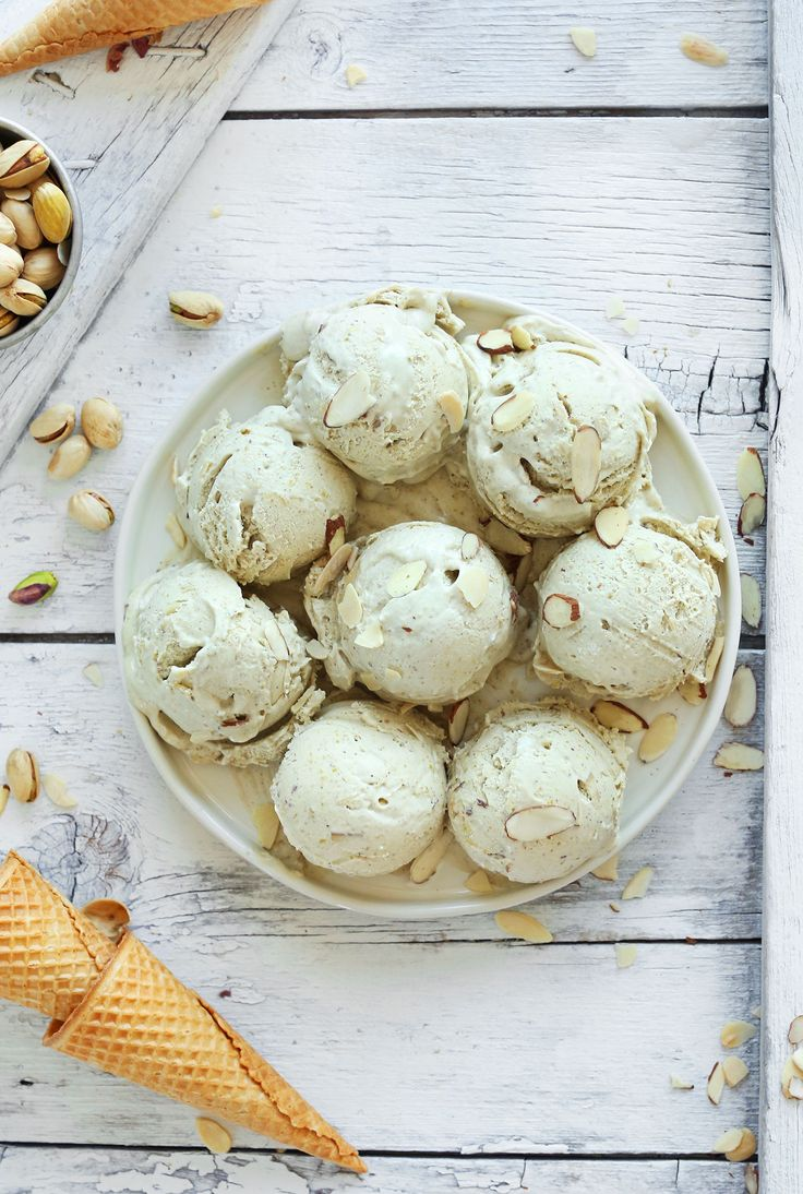 Almond Pistachio Ice Cream | Minimalist Baker Recipes