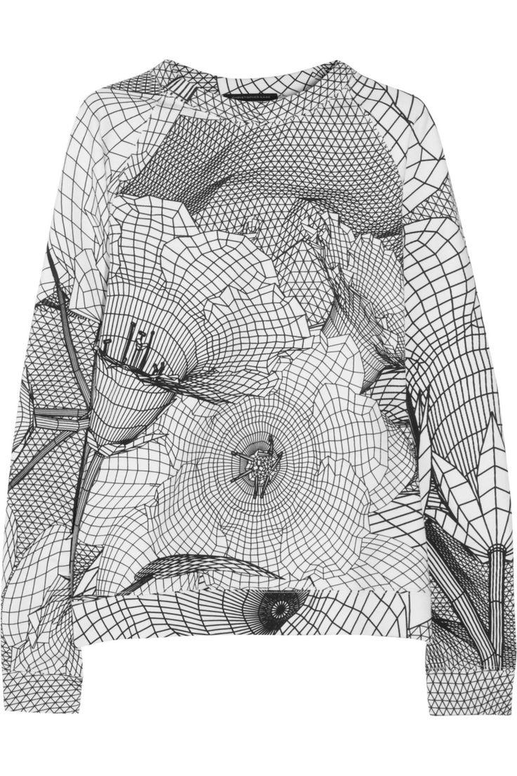 Christopher Kane|Printed cotton-jersey sweatshirt|NET-A-PORTER.COM