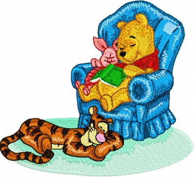 Dream Winnie Pooh and Tigger, Piglet machine embroidery design