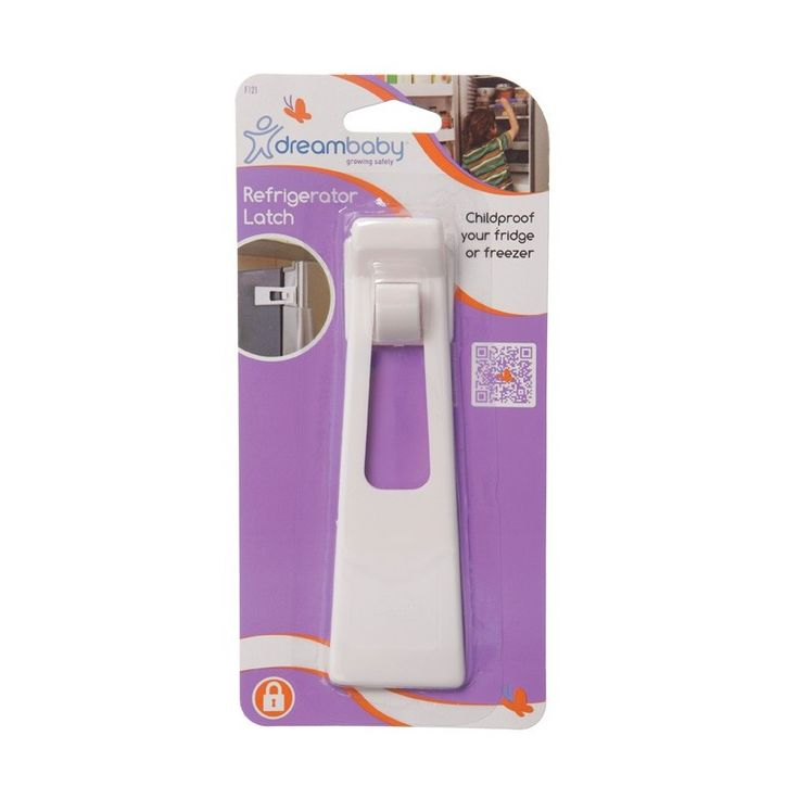 Dreambaby Refrigerator Latch F121 Easy to install with adhesive tape. Designed specifically for refrigerators and freezer doors (Barcode EAN=9312742301217) http://www.MightGet.com/march-2017-1/dreambaby-refrigerator-latch-f121.asp
