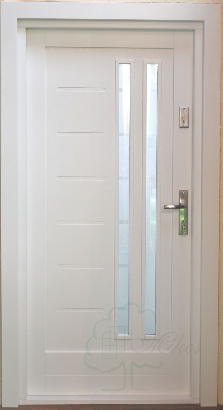 Drzwi wejściowe nowoczesne białe