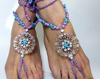 BAREFOOT sandals,foot jewelry,Gypsy,Wedding Barefoot shoes,beach sandals ,barefoot sandal,Hippie Sandals,Foot Jewelry, anklet, beach anklets