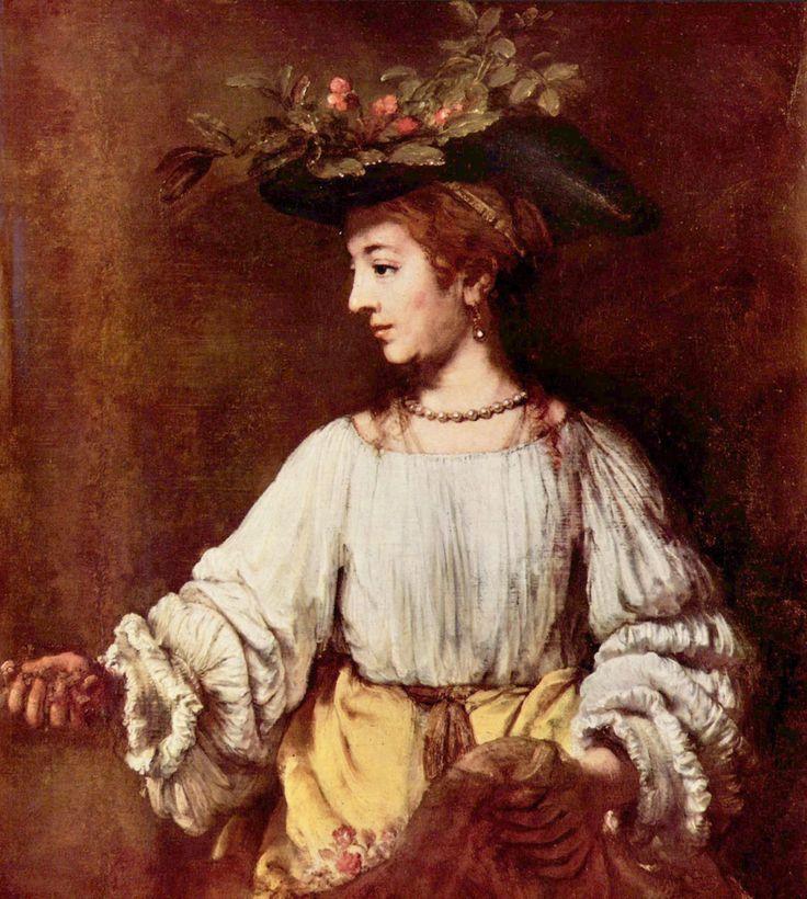 Rembrandt Harmensz. van Rijn: Hendrickje als Flora - Gemeinfrei