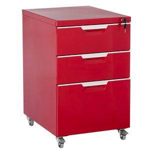 Cohen York Prime Steel Pedestal Red | Officeworks
